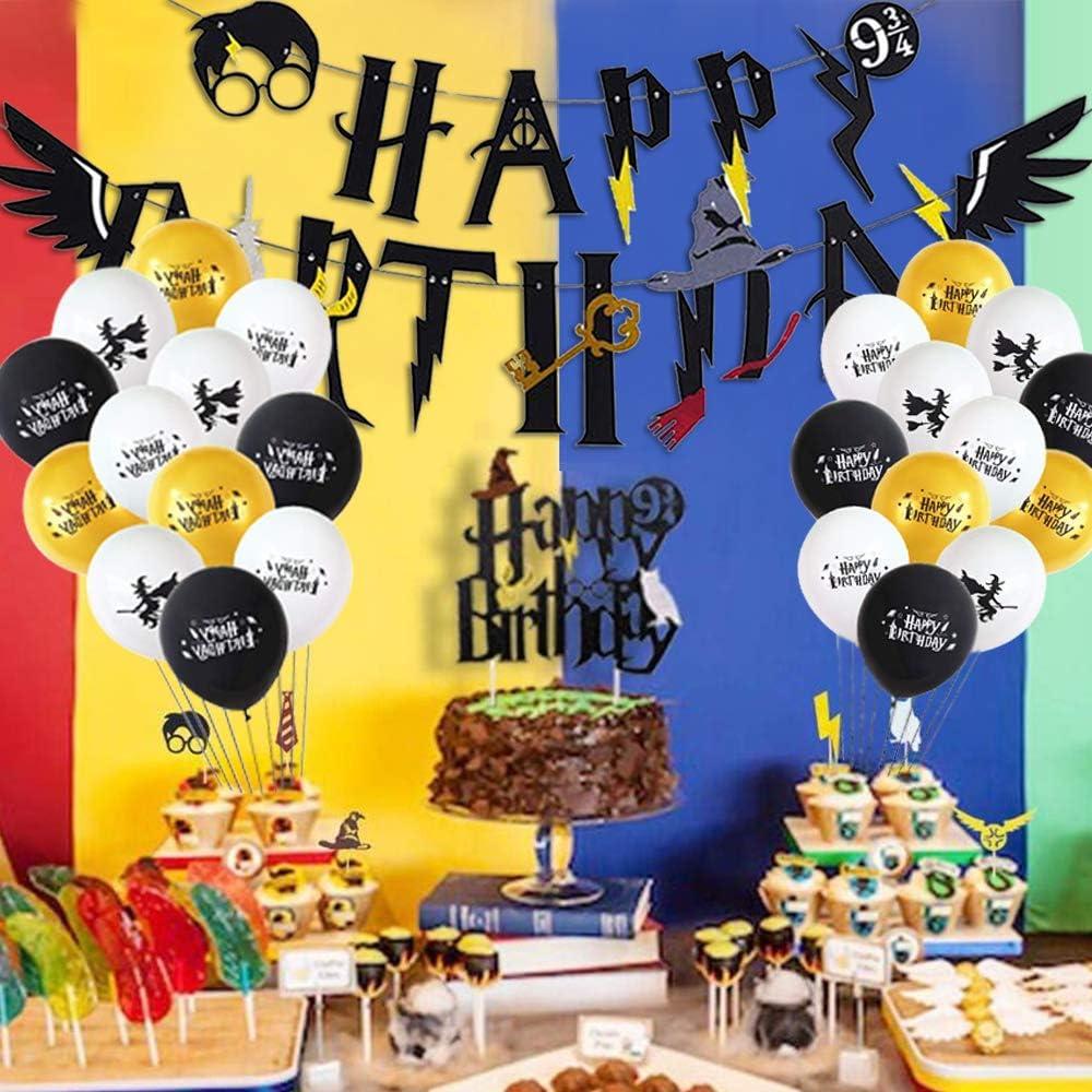 Mago Cumpleaños Fiesta Decoracion Temática Corbata Gafas Banner de ...