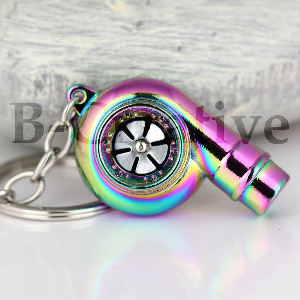 B-Creative Turbocharger Electric Piston Engine Perfect UK Supplier Blue Fast Delivery L.E.D Torch Turbo Keyring Chain Ring Keyfob