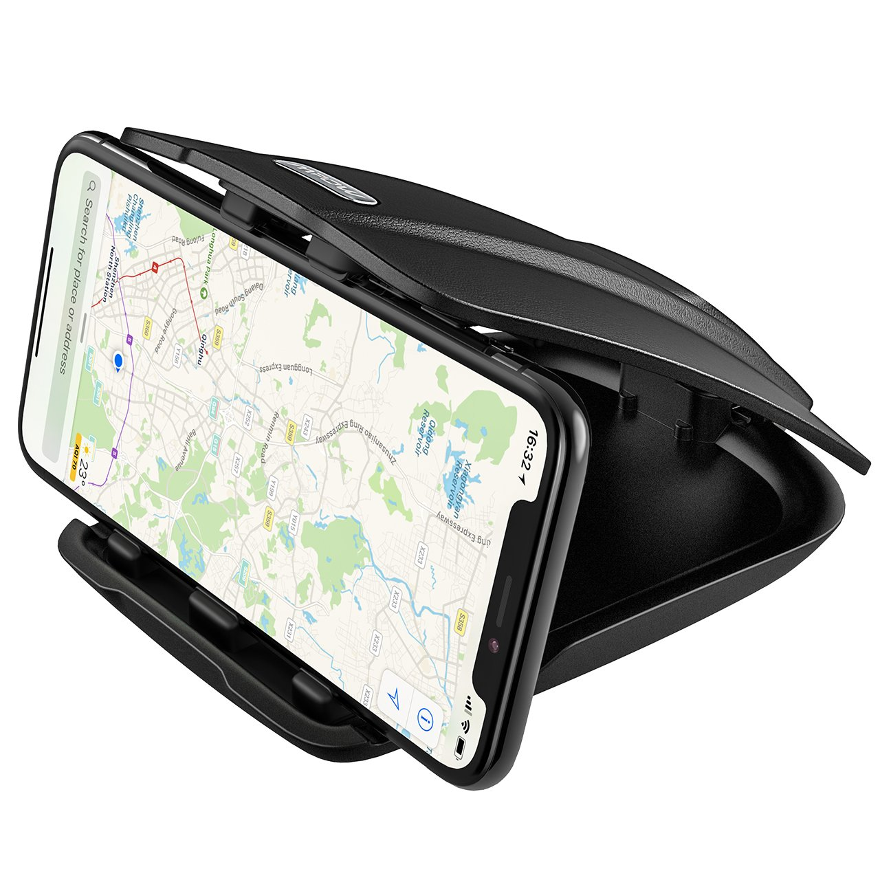 Mpow Soporte Mó vil Coche , Soporte Mó vil para Coche para Salpicadero, Soporte Mó vil Pinza, para iPhone X/ 8 Plus/8/ 7 Plus/ 6 6S Plus, Samsung Galaxy S8,Xiaomi, Navman GPS, etc. Soporte Móvil para Coche para Salpicadero