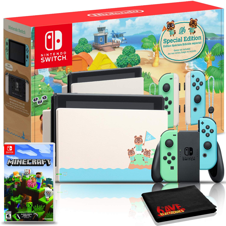 Nintendo Switch Animal Crossing: New Horizons Edition 32GB Console Bundle + Minecraft Game