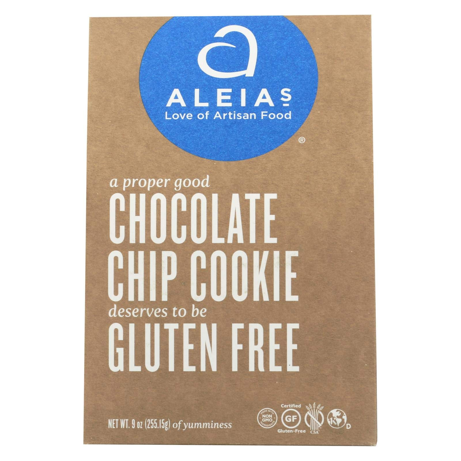 Aleias Gluten Free Chocolate Chip Cookies, 9 Ounce - 6 per case. by Aleias