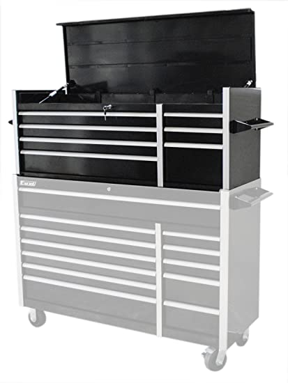 Excel TB5607A Black 56 Inch Metal Tool Chest With 7 BBS Drawers