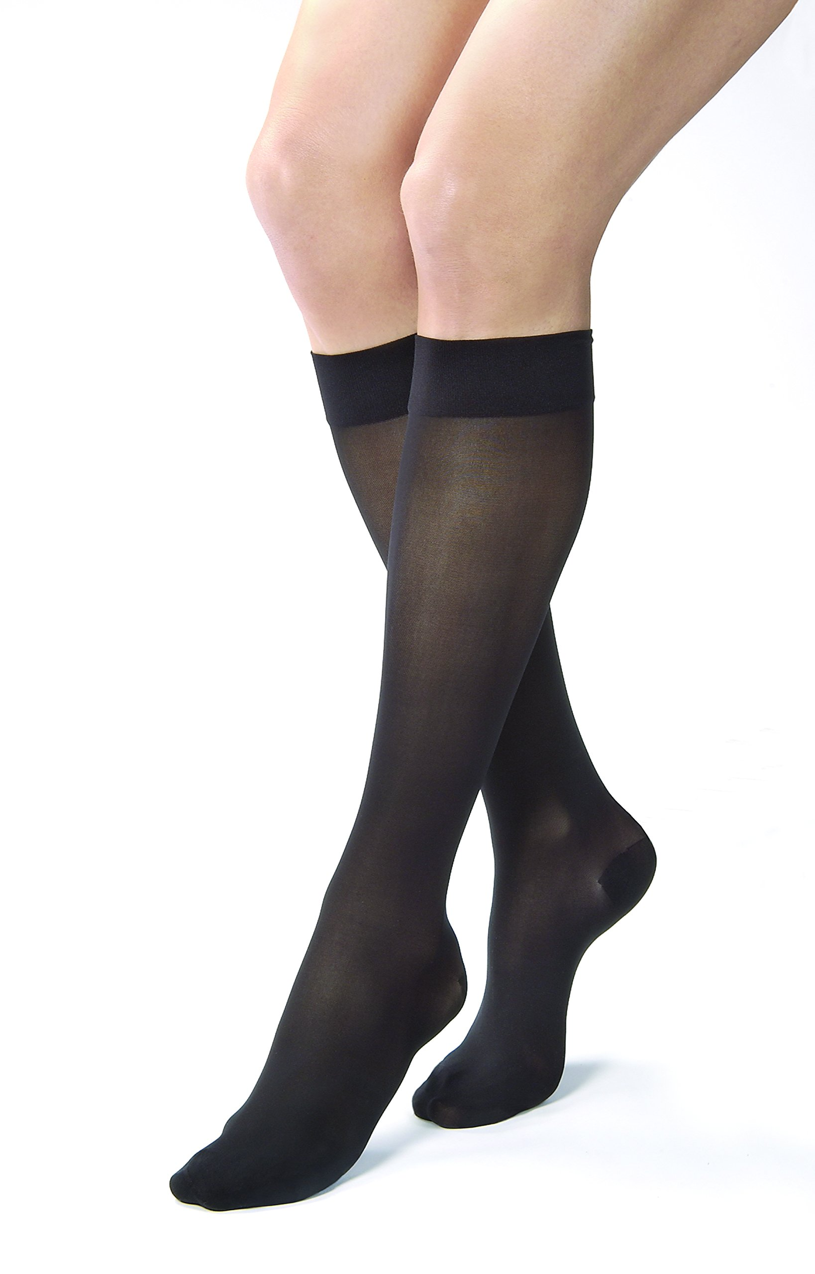 4263d9723 Jobst Women's UltraSheer Light Support Knee Highs,Classic Black, ...