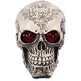 Toponechoice Halloween Party Decoration Skull Skeleton Figurine Statue Sculpture (Light-up Skull #4)