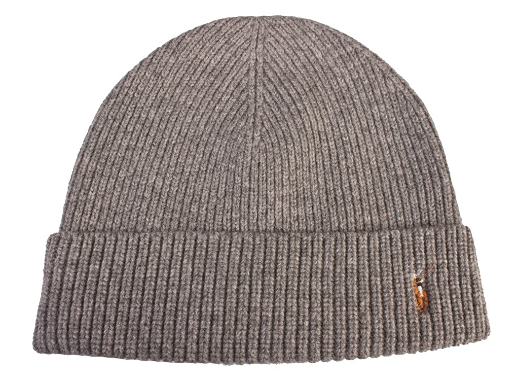 efcd695667d859 Polo Ralph Lauren Men's Merino Wool Hat Skull Cap Grey with Classic Pony at  Amazon Men's Clothing store: Beanie Polo Ralph Lauren