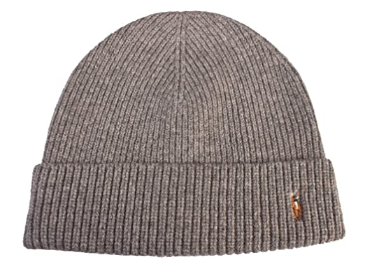 104afb7b18738a Image Unavailable. Image not available for. Color: Polo Ralph Lauren Men's  Merino Wool Hat Skull Cap Grey ...