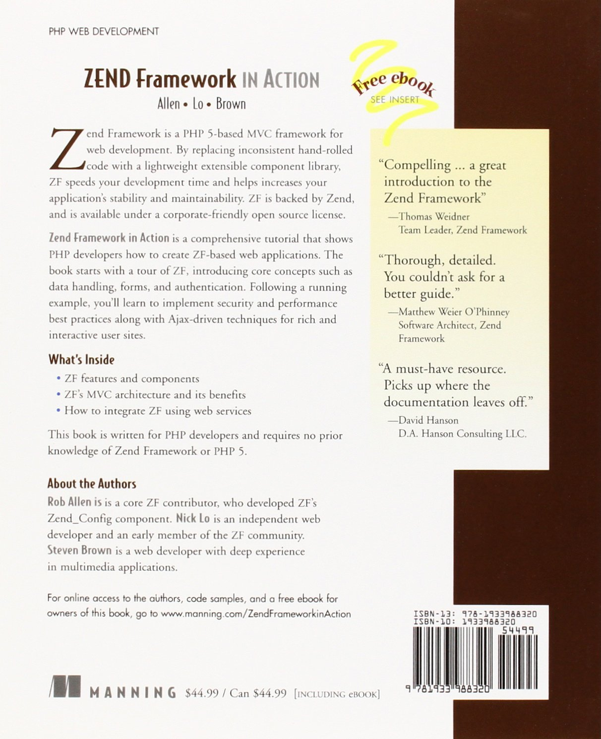 Zend Framework in Action: Amazon co uk: Rob Allen, Nick Lo
