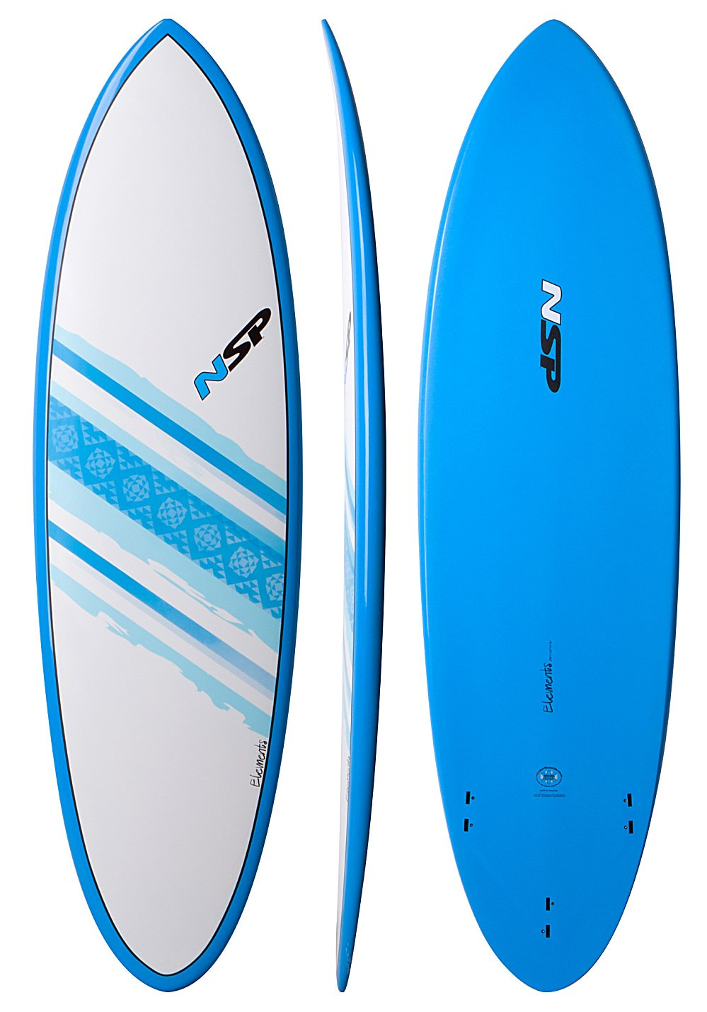 NSP Element Hybrid Short Tabla de Surf, azul: Amazon.es: Deportes y aire libre