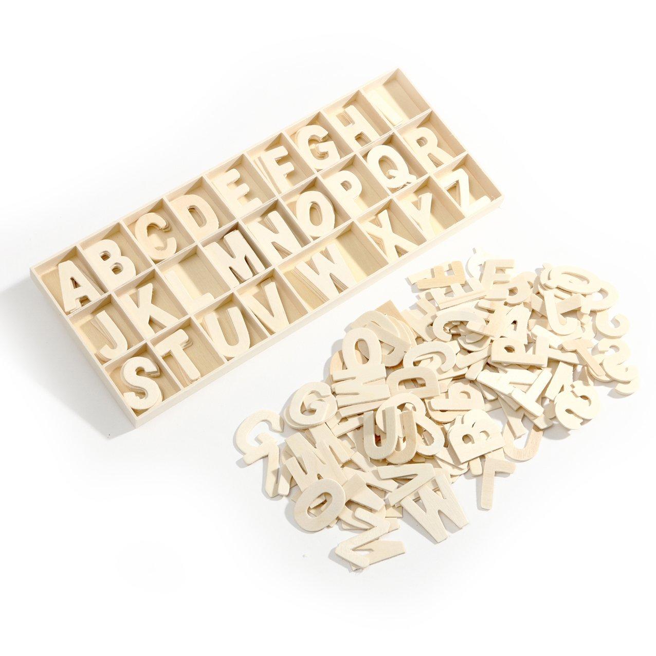 130 plain wooden large alphabet upper case 30mm letters amazoncouk toys games