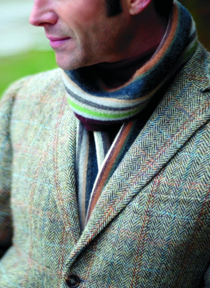 The Fine Swine Men's Harris Tweed Jacket Hamish 40 Long Brown mix by Harris Tweed and The Fine Swine (Image #2)