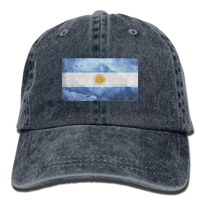Jocper Retro Argentina Bandera Ajustable Gorra de béisbol Denim ...