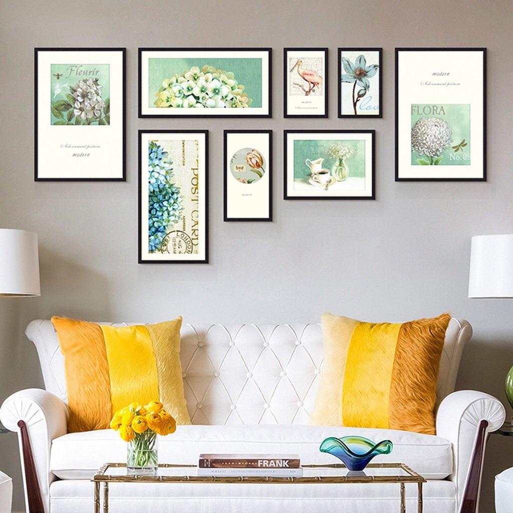 Unbekannt Bilderrahmen-Wand 8 Bilderrahmen-Galerie-Kit Beinhaltet: Rahmen, Wandvorlage, Kunstmalereikern -LI JING SHOP