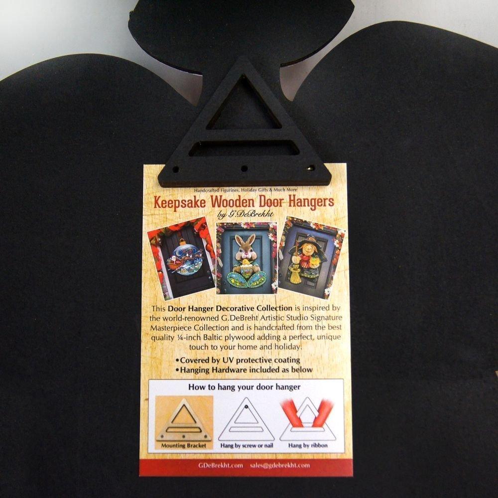 G.DeBrekht Halloween Witch Wooden Indoor/Outdoor Hanging Door Decoration, Wall Sign, For Home, School, Office, Party #8114010H