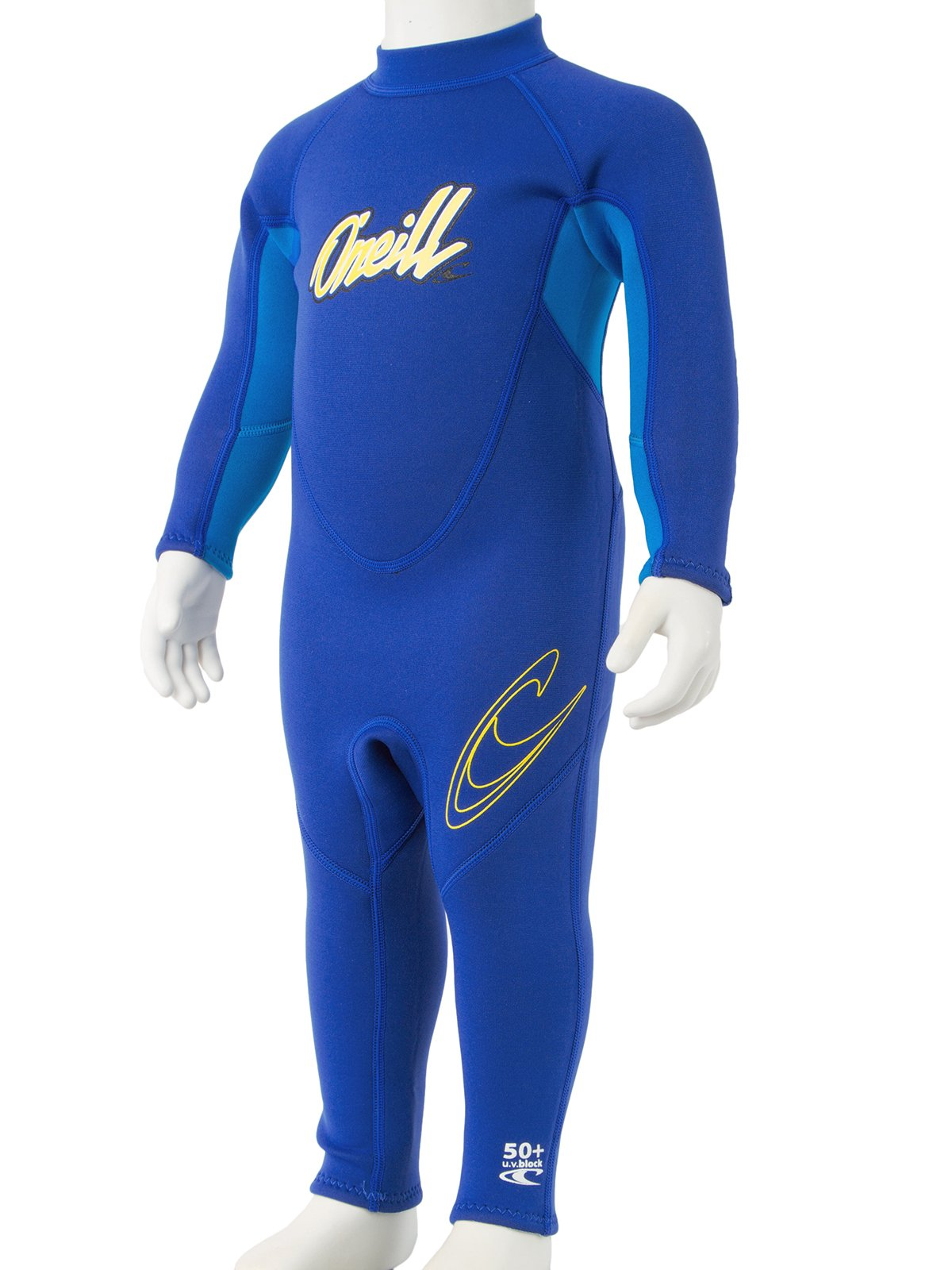 O'Neill Reactor Toddler Full Wetsuit 6 Pacific/Brite Blue/Yellow (4629B) by O'Neill Wetsuits