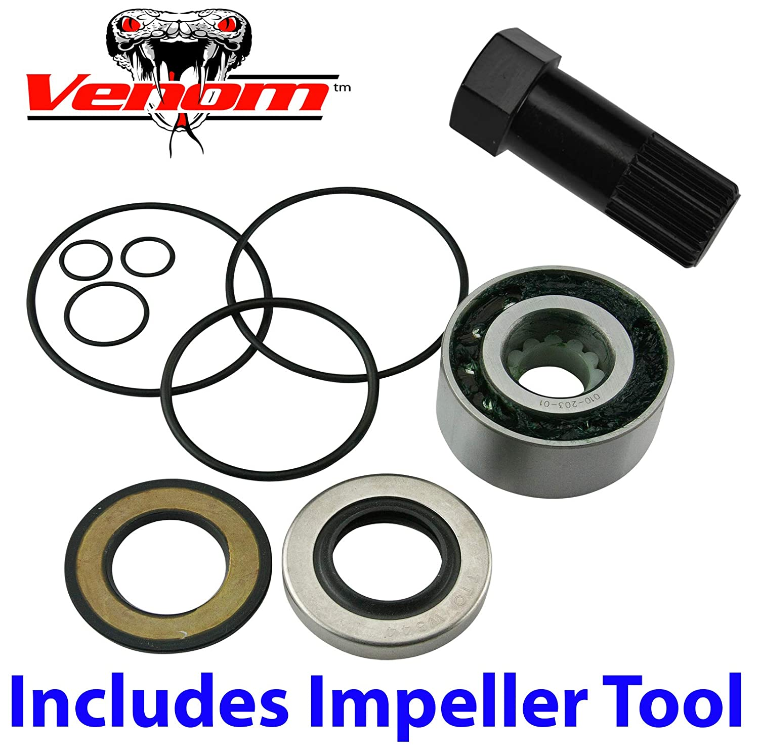Amazon com: 4-TEC Venom Jet Pump Rebuild Kit w/Impeller Tool