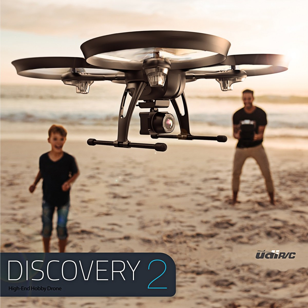Discovery 2 Drone - 720P Great Range and Flight Time,  Drone with 720P HD Camera DBPOWER Headless Mode Quad Copter, Improved Next Gen with Bestseller Discovery Long Flying, Introduction Offer by UDI RC