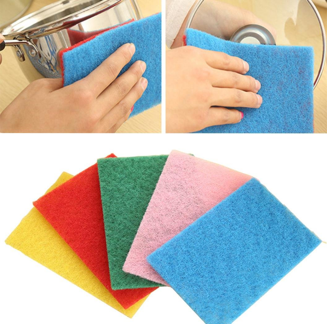 10X Magic Sponge Eraser Cleaning Towel Wash Cloth Kitchen Dish Foam Pads Cleaner Vibola (random Color)
