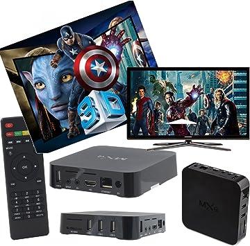 MXQ Android TV Box WiFi IPTV Smart TV Plasma LED USB SD Card Internet Smart TV: Amazon.es: Electrónica