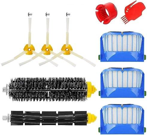 MTKD® Kit Cepillos Repuestos Compatible con iRobot Roomba Serie 600 - Kit de 10 Piezas Accesorios(Cepillos Lateral, Filtros, Cepillo de Cerda y etc..) para Aspirador Robot.: Amazon.es: Hogar