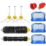 MTKD® Kit Cepillos Repuestos Compatible con iRobot Roomba Serie 600 - Kit de 10 Piezas Accesorios(Cepillos Lateral…