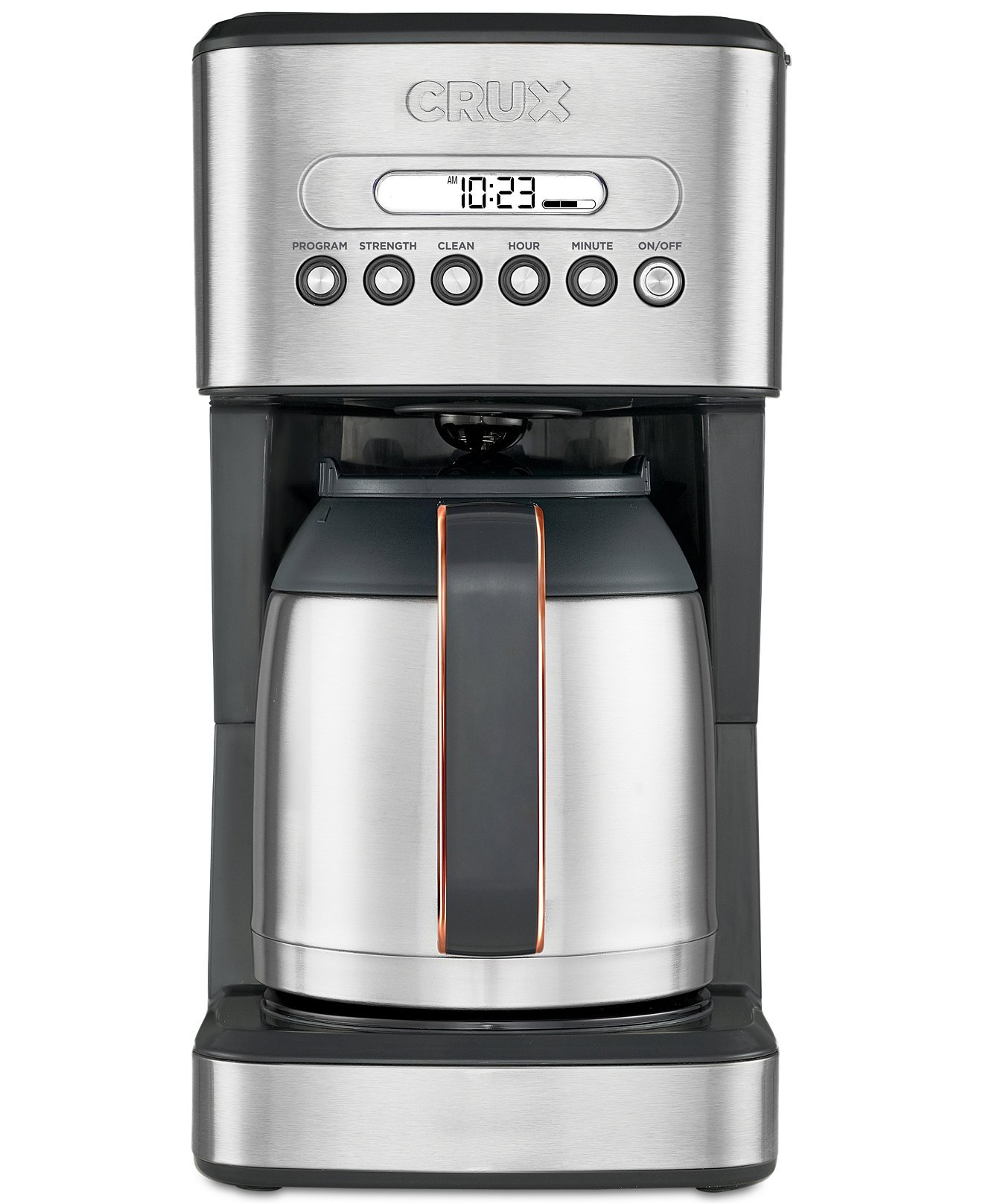 crux 10 cup thermal programmable coffee maker