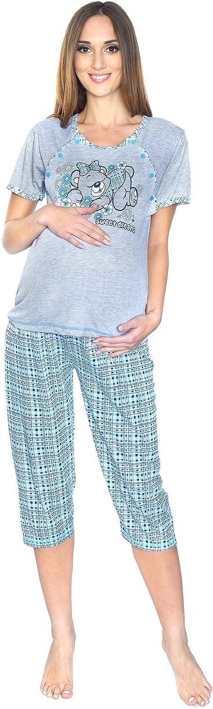 3 in1 Maternity and Nursing 2-Peace Pyjama Set Sleeping Bear 2073 MijaCulture