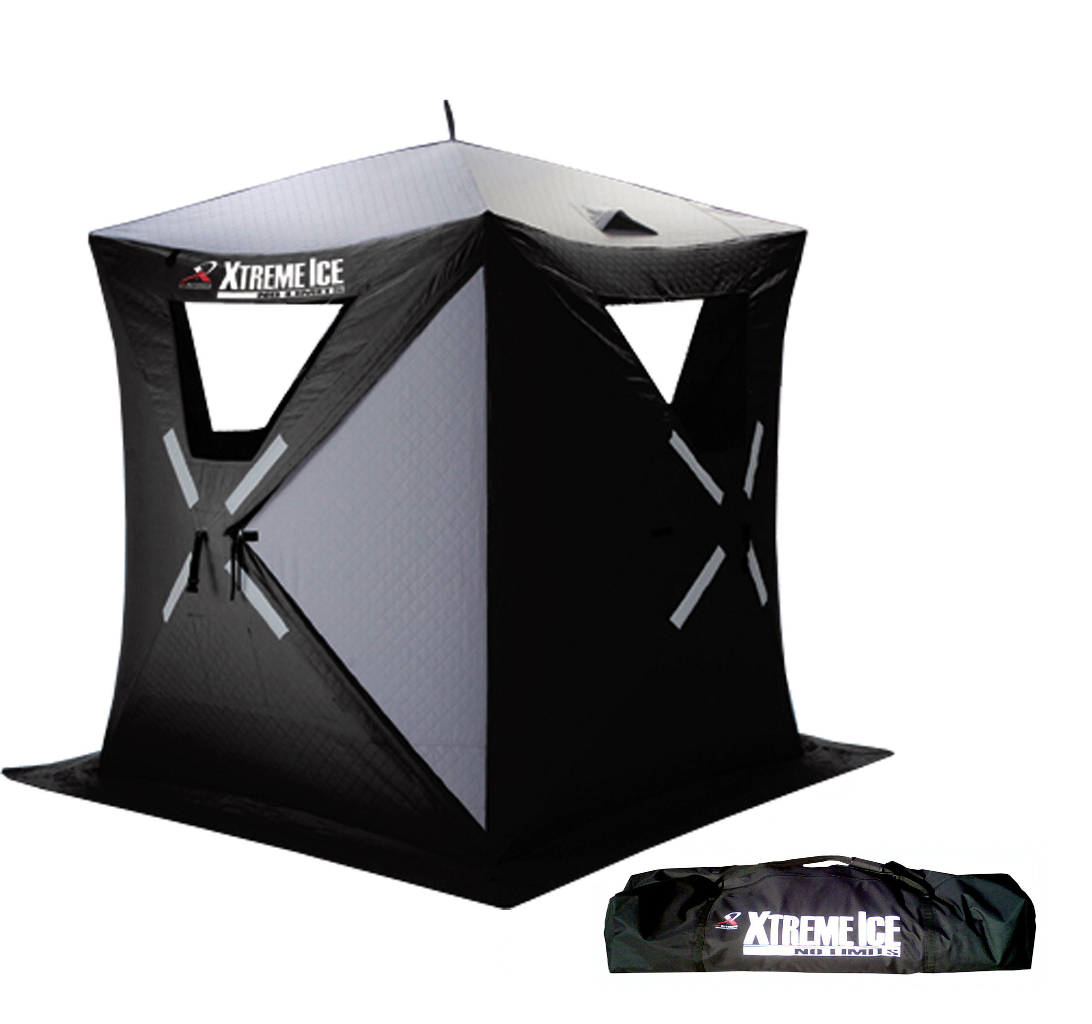 Ap Outdoors Xtreme Ice Xi3 Thermal 3-4 Person Thermal Hub Style Pop-Up Ice Fishing Shelter (6 X 6-Feet )