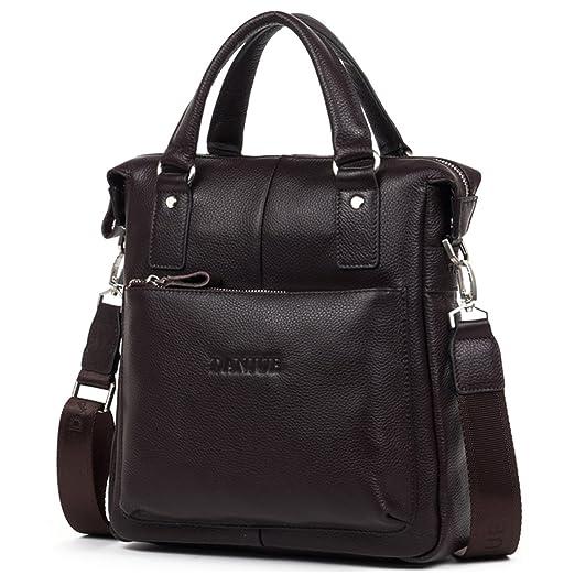 DANJUE Luxury Leather Men s Briefcase Messenger Bags Shoulder Handbags  Satchels Ipad Tote Top Handle Cross- 56b69acb0dc65