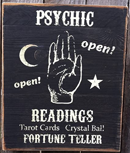 Psychic Readings Wood Sign, Primitive decor