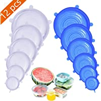 12-Pack Mavgv Silicone Stretch Lids