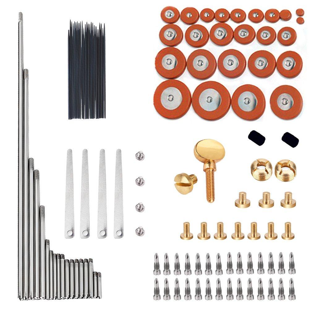 GU GU 1 Set Alto Sax Repair Parts Screws + 25pcs Sax Pads + Blanket column JYFY 4334281799
