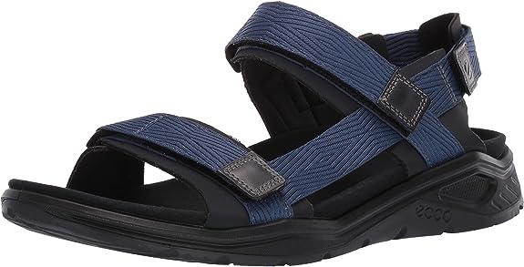 ECCO Men's X-Trinsic Sandal Black/True Navy Textile 44 M EU (10-10.5 US)
