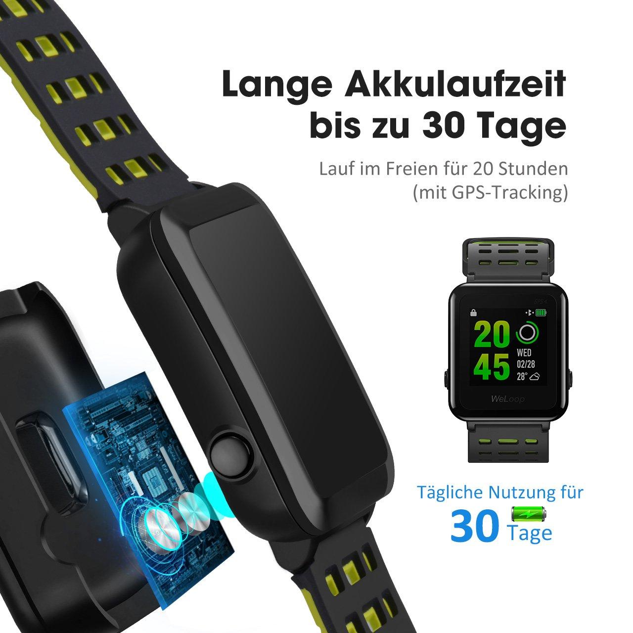 OMORC HR Sport GPS Smartwatch, Sportuhr Laufuhr Fitness ...