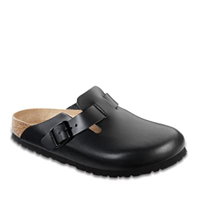 Boston Leather Clogs - EUR 37 - narrow - darkbrown - leather