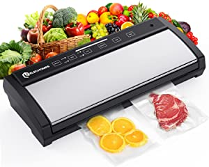 Elechomes Vacuum Sealer, 85KPA Hands-Free Automatic Food Sealer with Starter Kit, Extra-wide 12.6