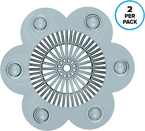 Plastic Drain Protector in Gray or Clear stop clogs! Water Drop Hair Catcher