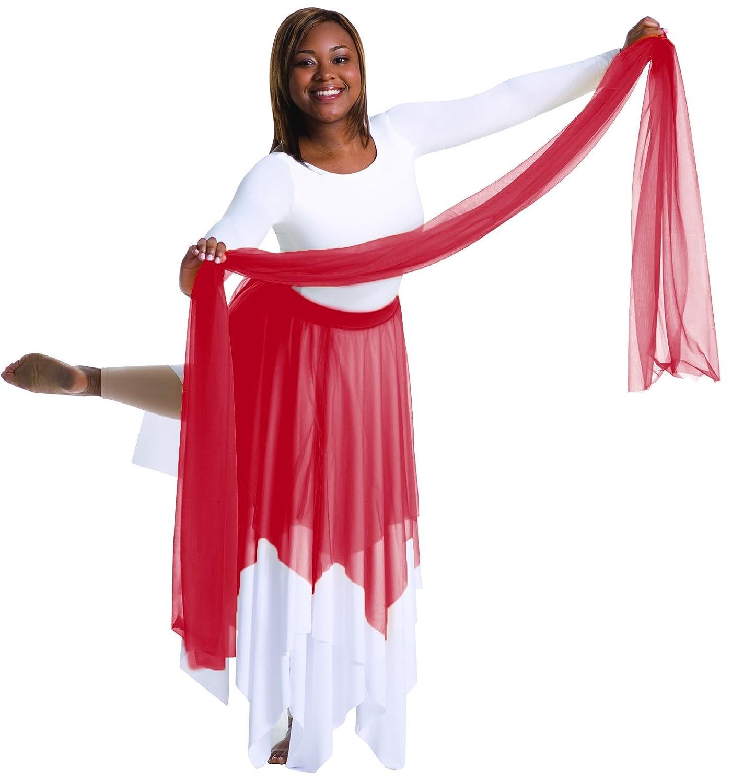 Body Wrappers 0539 Girls Praise Dance Uneven Hem Skirt