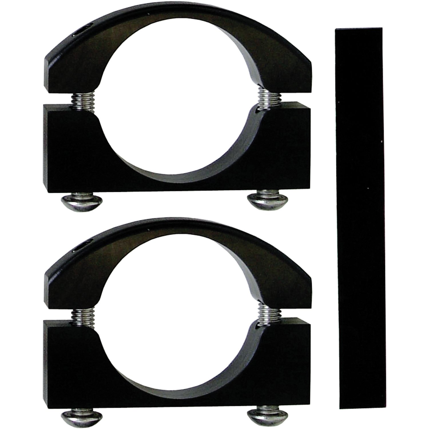 Power Tank ABC-2465 Billet Aluminium Black Large Jeep Roll Bar Clamp - Pair by Power Tank
