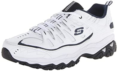 Energy After Burn Herren, White/Navy, 44 EUR Skechers