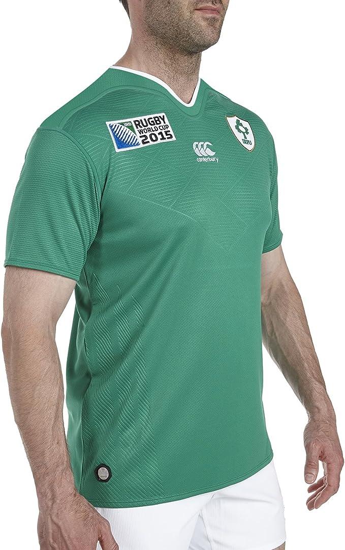 Canterbury Rugby World Cup Hombres Irlanda Home Pro Rugby Camiseta de Manga Corta: Amazon.es: Ropa y accesorios