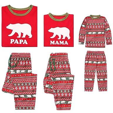 Pijamas Familia Navidad - 2pcs Manga Larga Conjunto de Familiares ...
