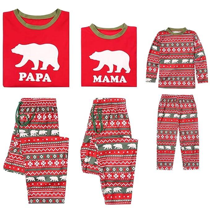 Conjunto de Pijamas Familia Navidad Niño Mujer Hombre Ropa de Dormir Algodón Pijamas Manga Larga 2 piezas Xmas Disfraz Papá Mamá Pyjamas Sets, ...