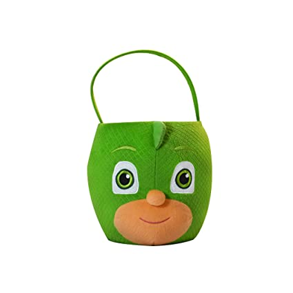 PJ Masks Gekko Plush Basket, Medium