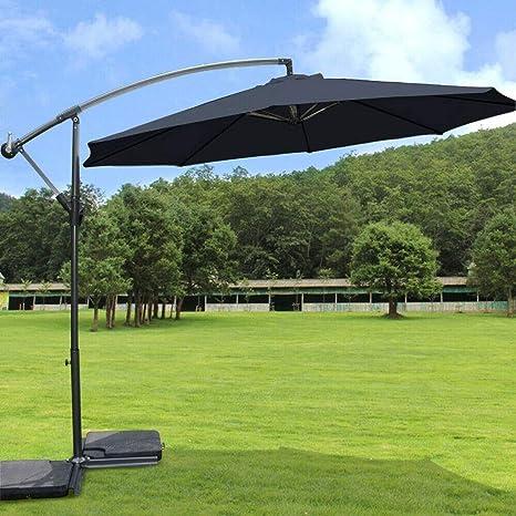Hanging Garden Banana Patio Sun Umbrella Cantilever Canopy Cover Sun Shade 3M UK
