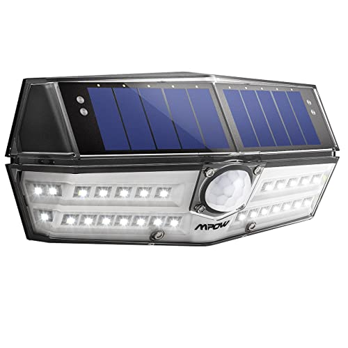 Mpow 30 LED Solar Lights, A New Generation of Motion Sensor Outdoor Lights, Industry-leading SunPower Solar Panel, Waterpoof Bright Security Lights, Upgraded  Sensor Head, Great Outside Lights for Garden, Driveway, Yard, Garage, Pathway
