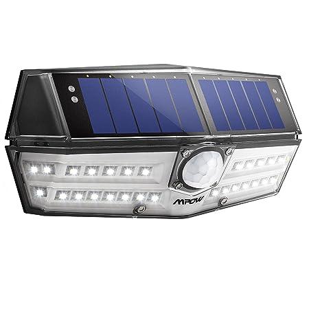 Mpow Luz Solar IP66 Impermeable, Iluminación de 270º, Sensor de ...