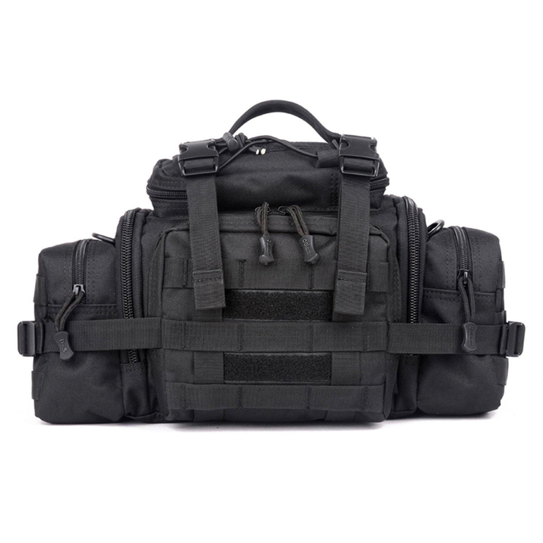Huntvp Bolsa de Riñonera Táctical Bolsa de Bandolera Estilo Militar Bolso de