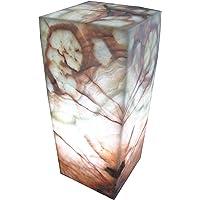 "Lámpara decorativa de mesa/buró artesanal 30cmx15cm en piedra ónix""Beta Verde"""