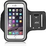 ATiC iPhone 6 Plus 5.5インチ 汗プルーフ透明樹脂製スポーツアームバンド BLACK