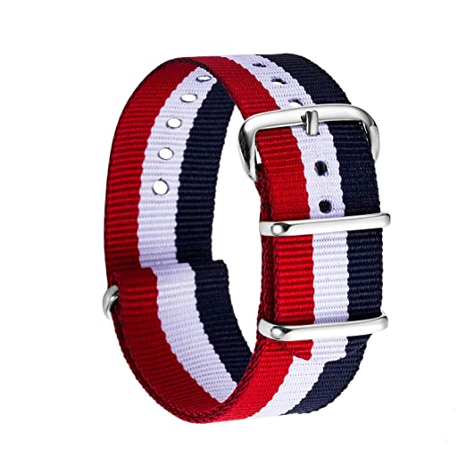 f31ed42a1 Nylon Watch Band, Unisex Watch Strap Choice for Color Width 18mm ...